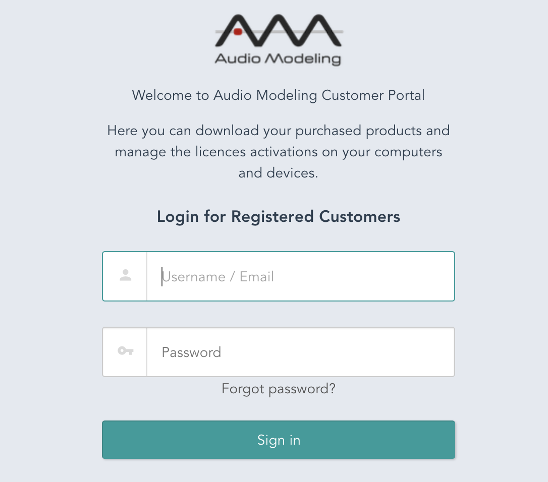 Audio Modeling Customer Portal