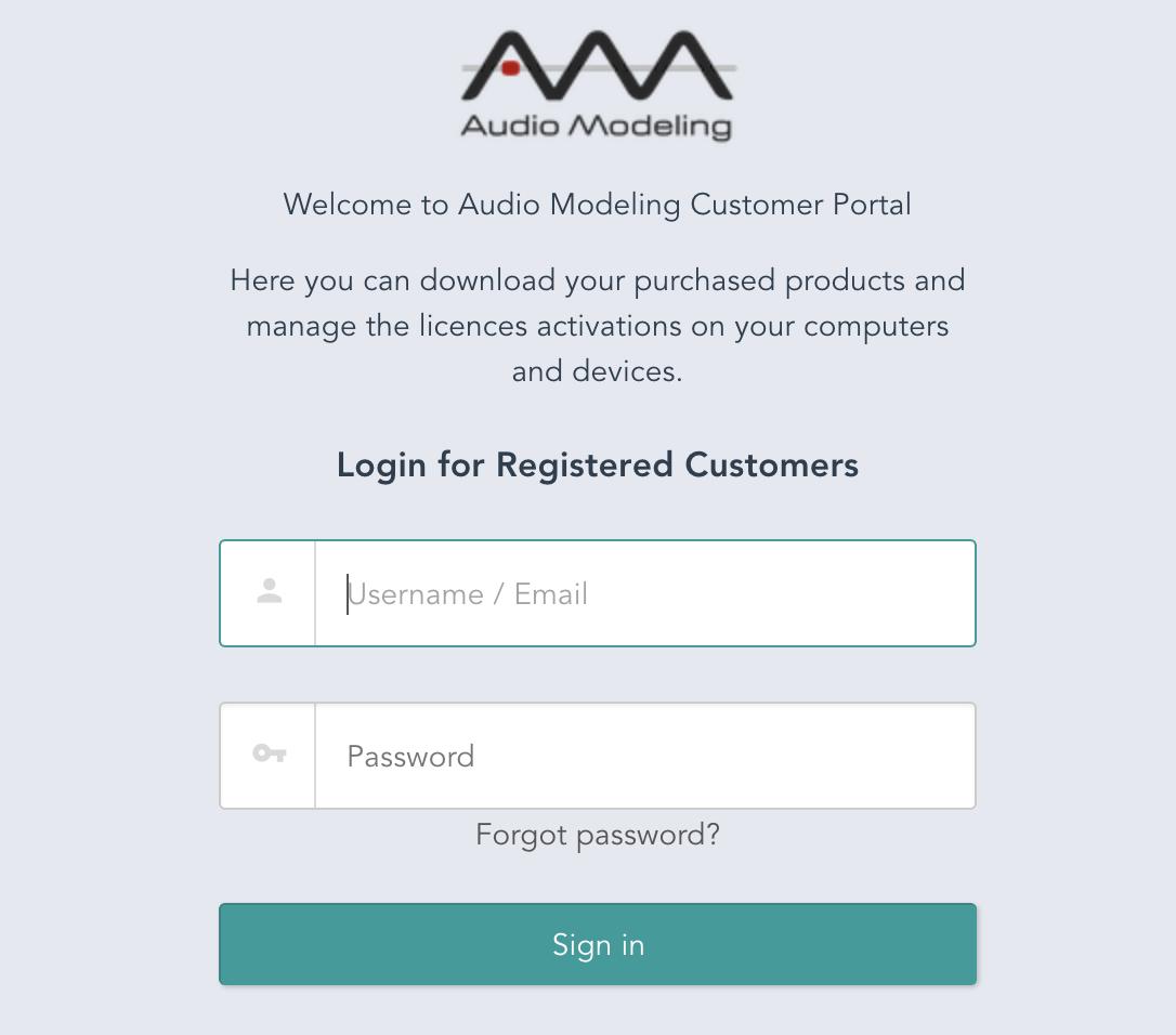 Audio Modeling Customer Portal